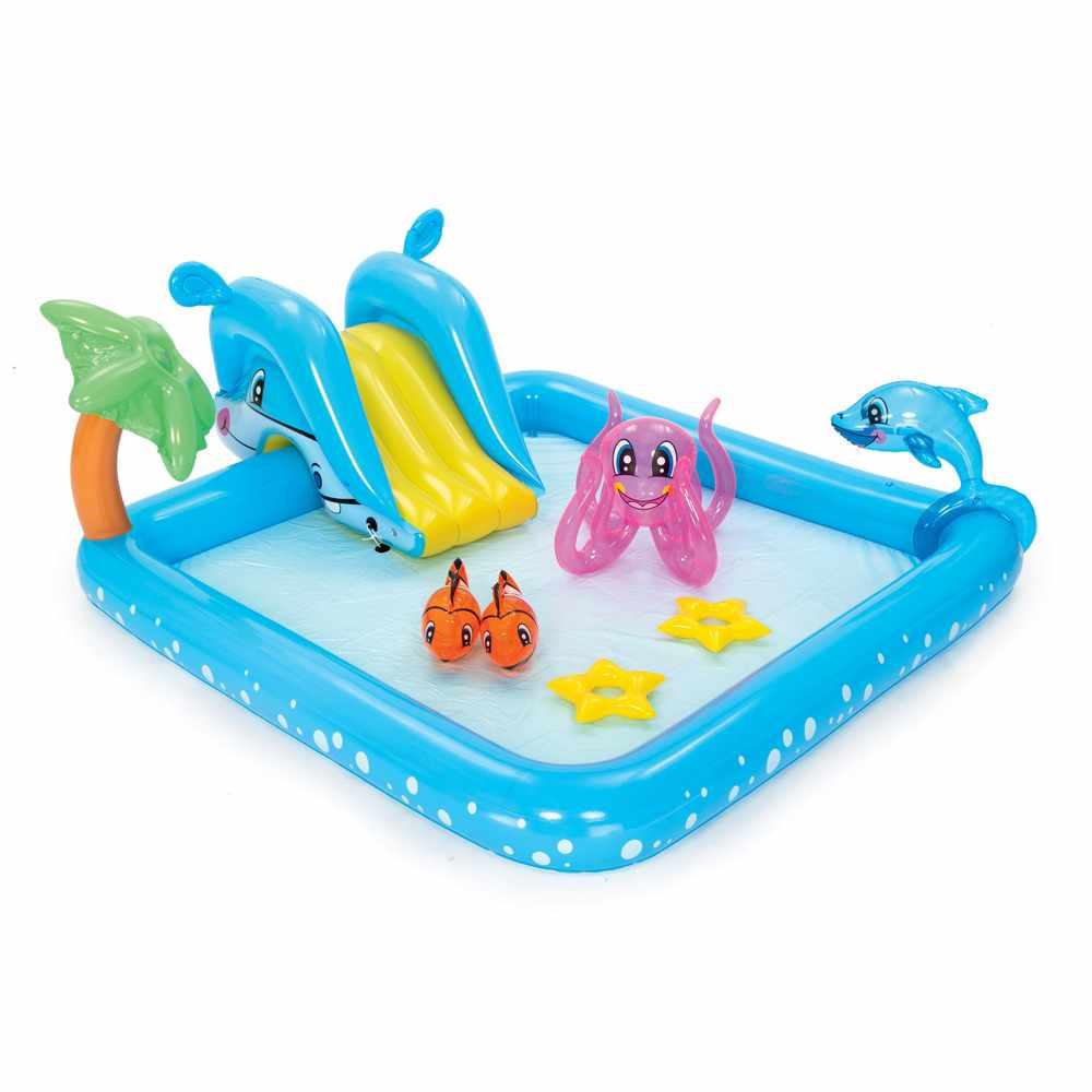 Bestway 53052 inflatable kiddie pool with aquarium theme - promo