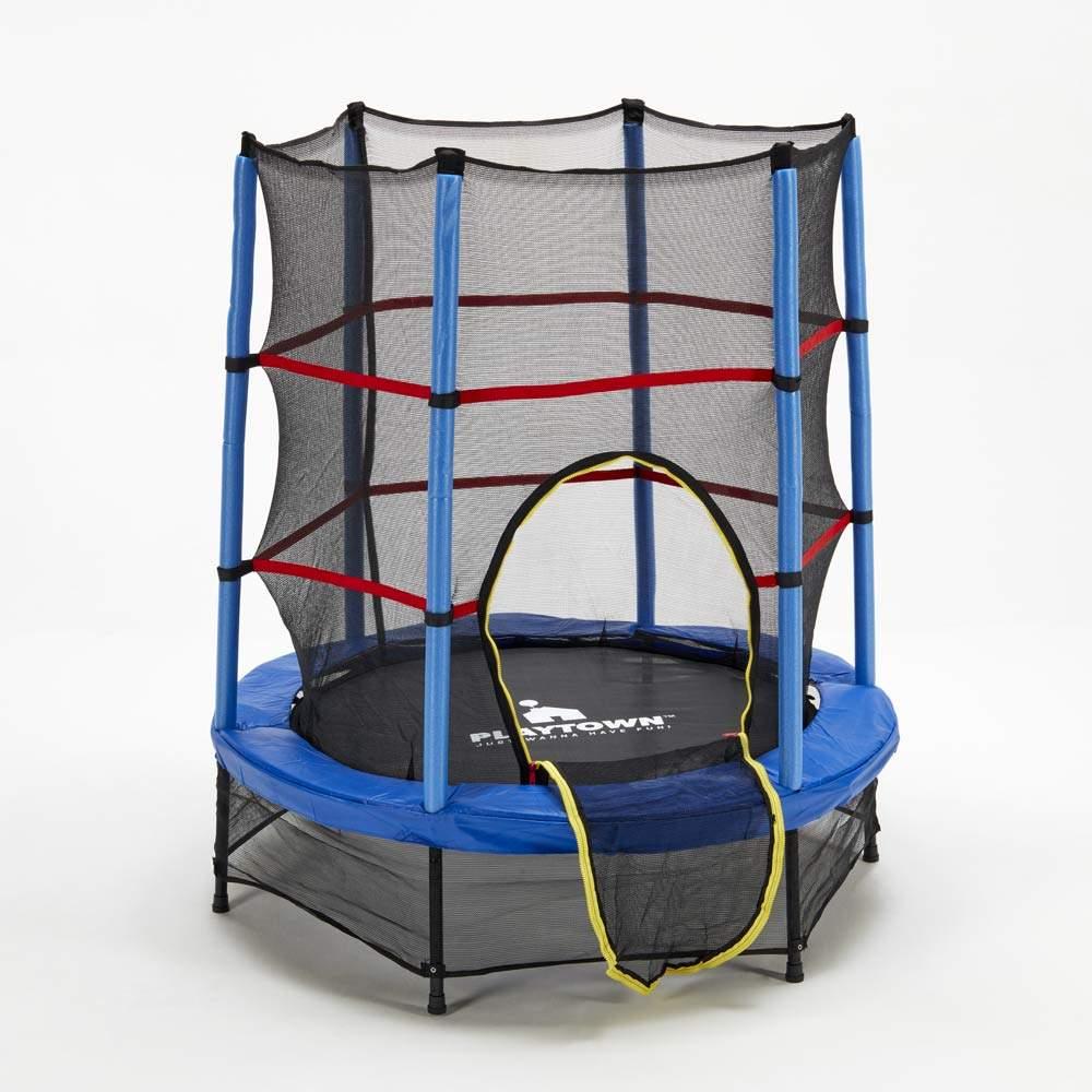 Trampoline Children's Elastic Carpet 140cm mesh and safety padding Frog - details