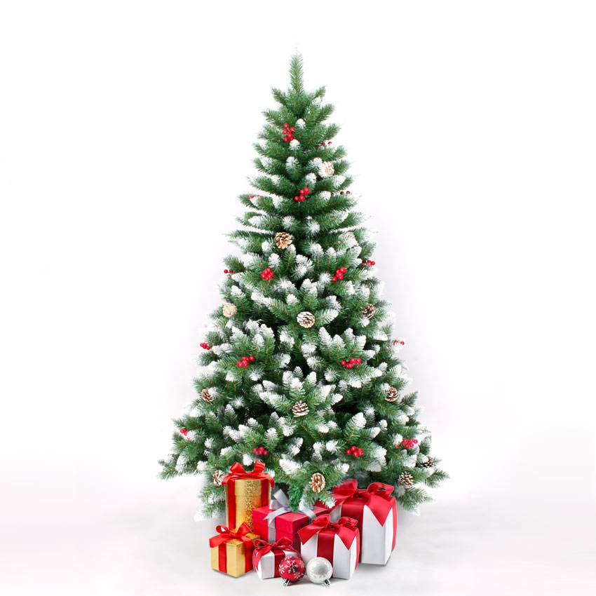 Artificial Christmas tree 180 cm with included decorations Bergen - details