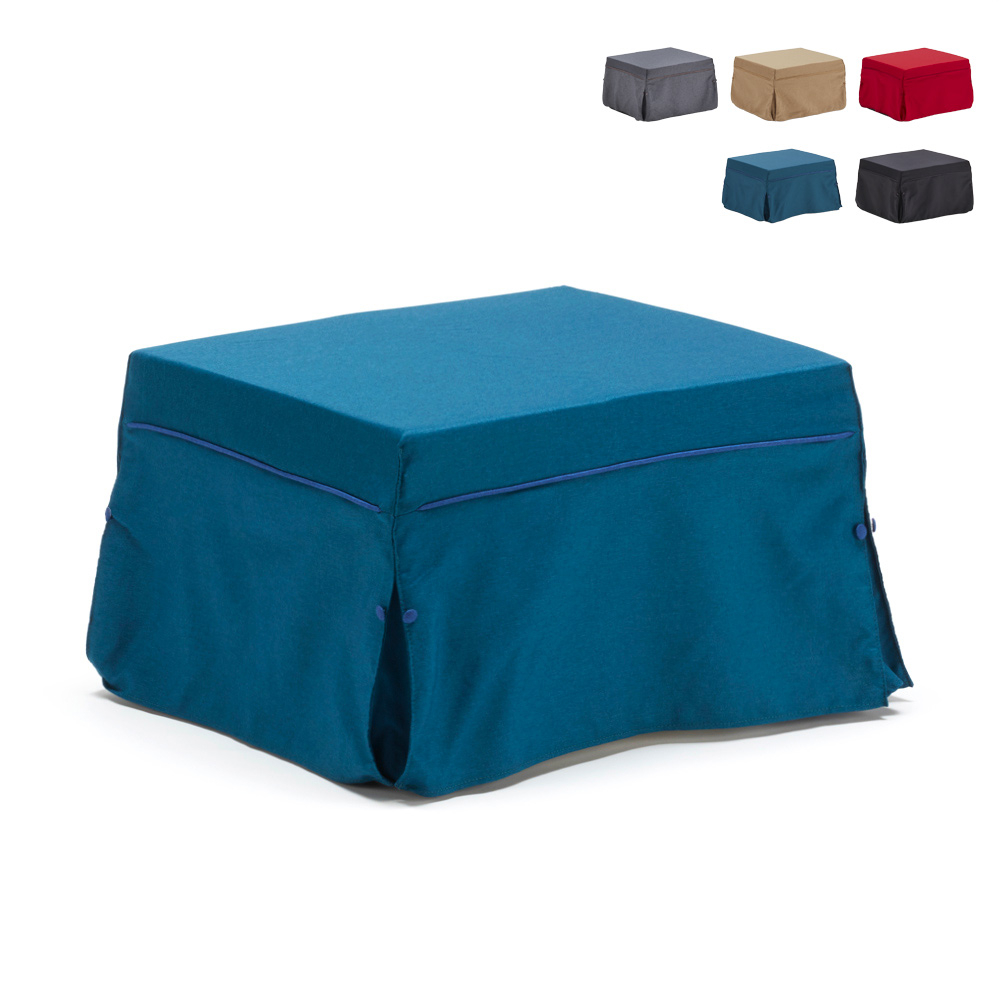 Pouf footrest with built-in folding bed Morfeo - best