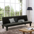 Topazio LIViNG Small Sofa Bed Made With Eco Leather For Studio Apartment Two-Room Apartment
