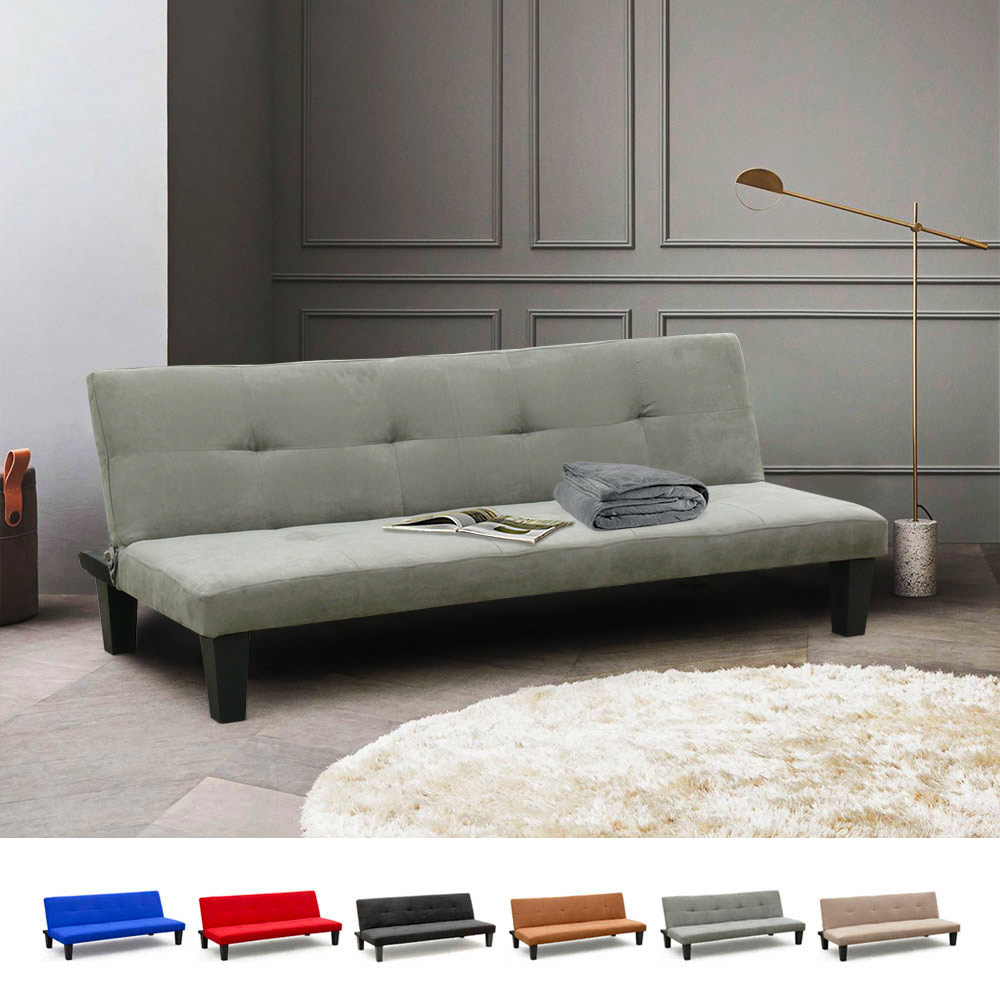 Onice 2-Seat Sofa Bed Made Of Microfibre - sales