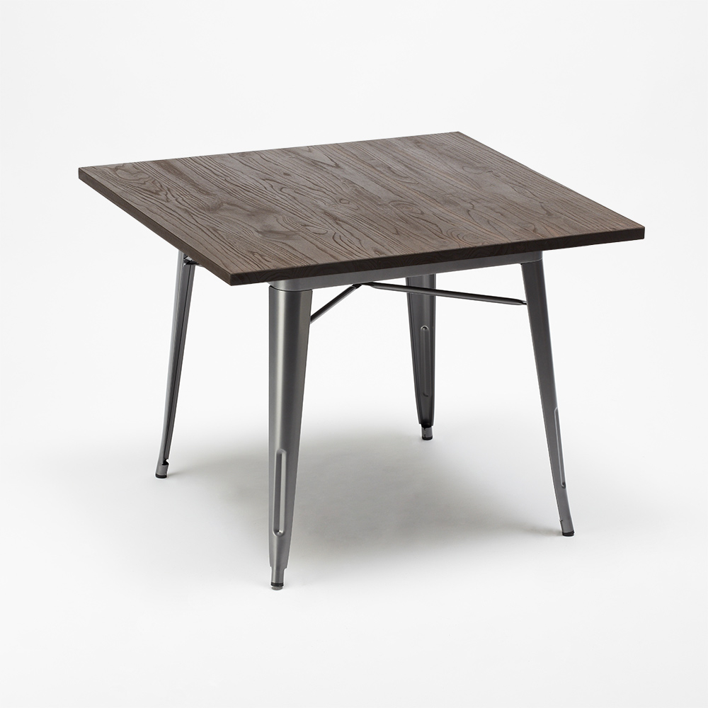 industrial style tables ALLEN wood table metal legs