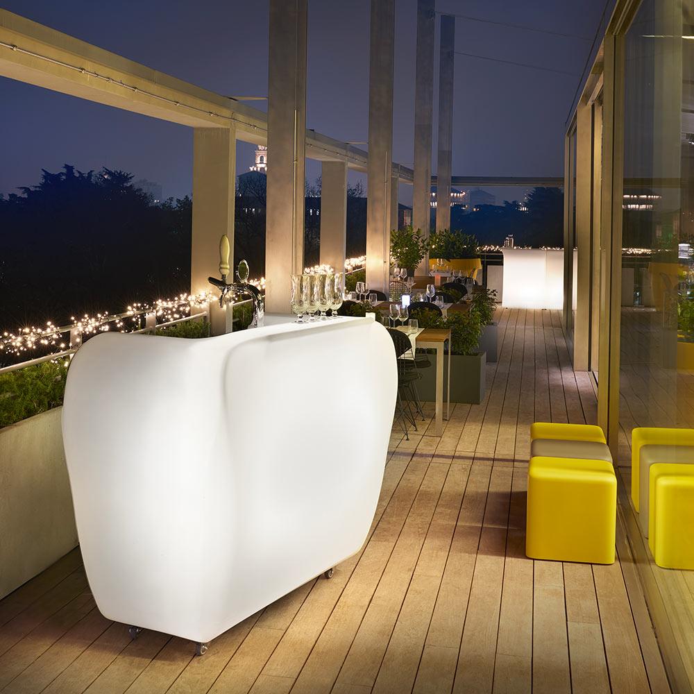 Bar portable counter with wheels outdoor indoor design SLIDE Roller Bar - best