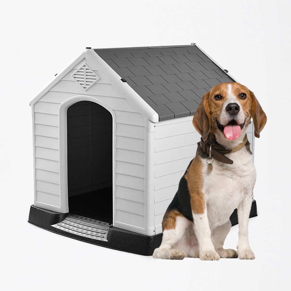 Medium size Plastic dog house kennel for indoor and outdoor Ruby - discount