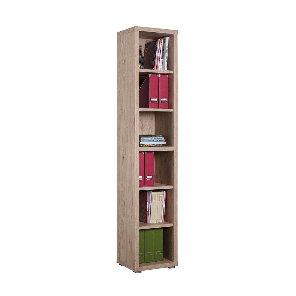 Vertical wooden bookcase 6 rooms modern design Ely