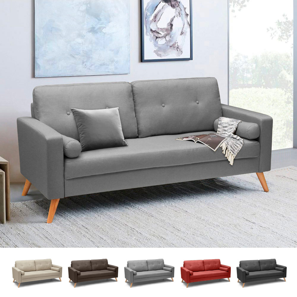 Modern Scandinavian Design 20 person Fabric Sofa for living rooms and  offices Acquamarina