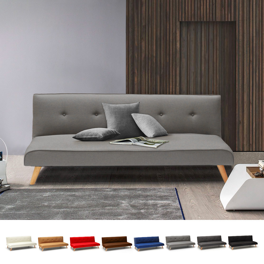Modern Design Fabric Couch 2 Seater Sofa Bed for Living Room Larimar - details