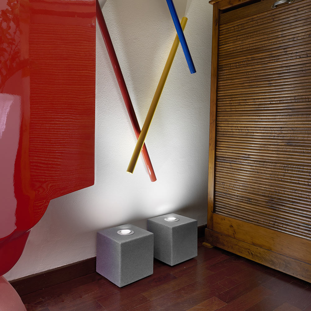 Cube design table floor lamp Slide Block Rock - sales