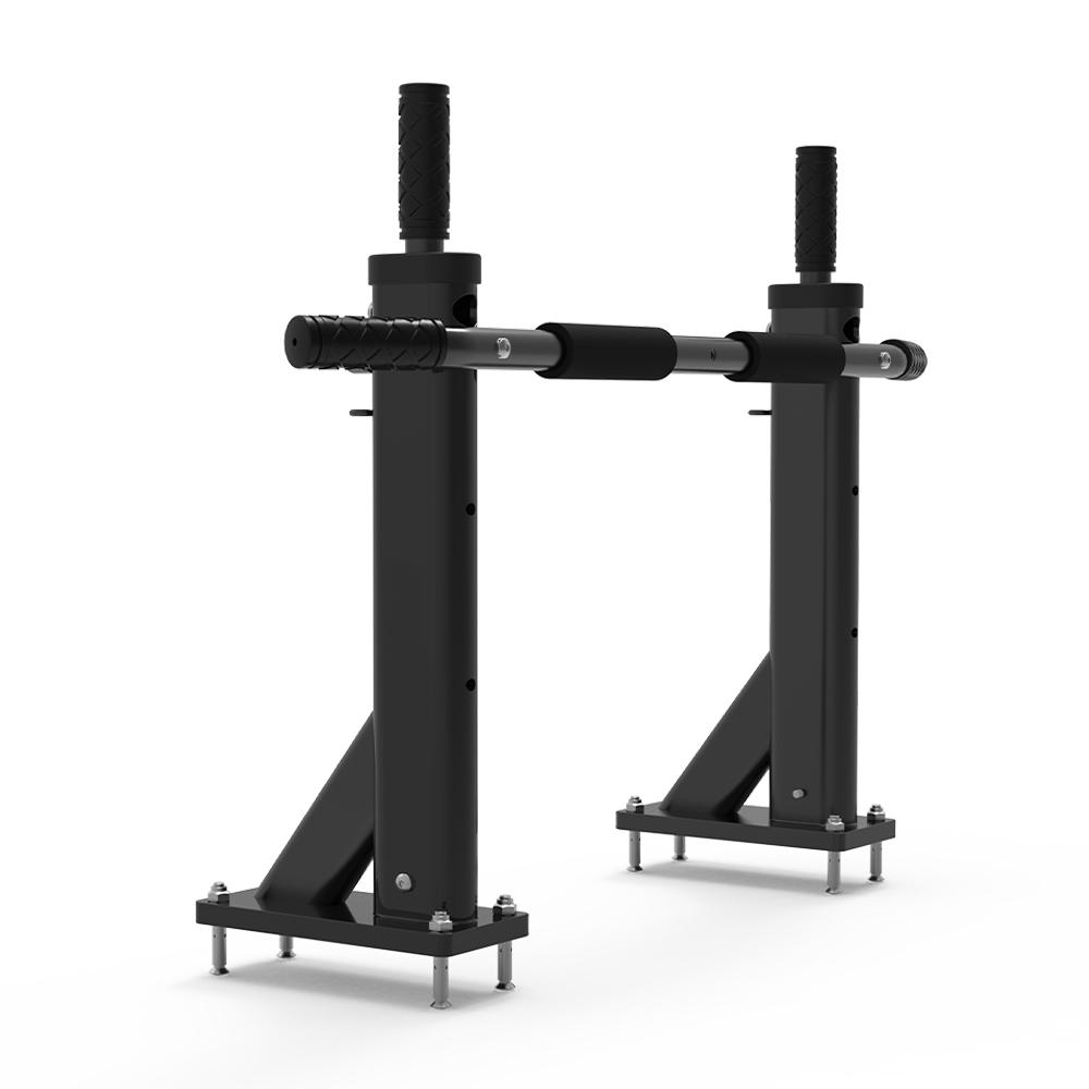 Professional wall-mounted multi-grip steel pull-up bar Scraper