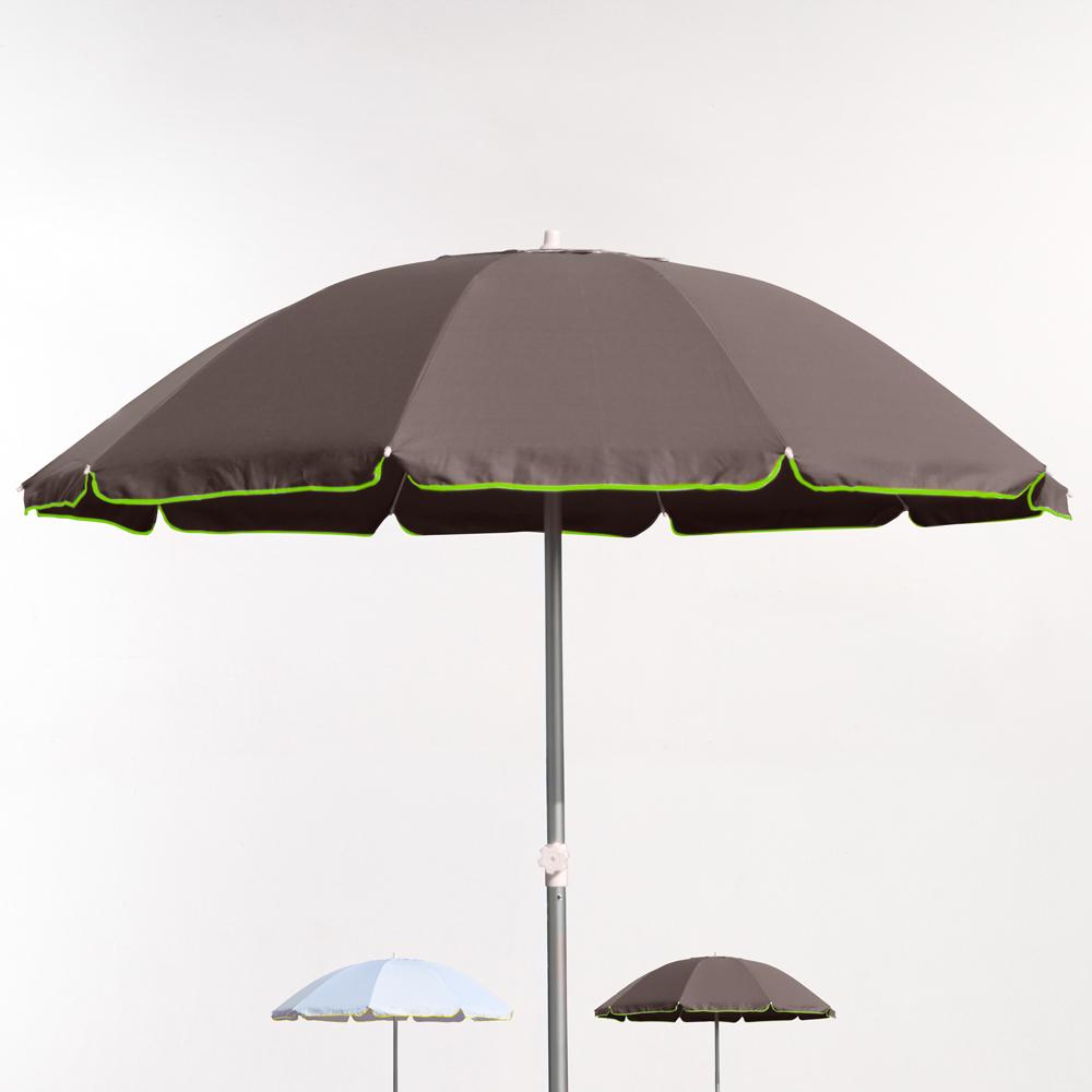 220cm Aluminium Beach Umbrella With UPF 158+ uv Protection Roma Fluo