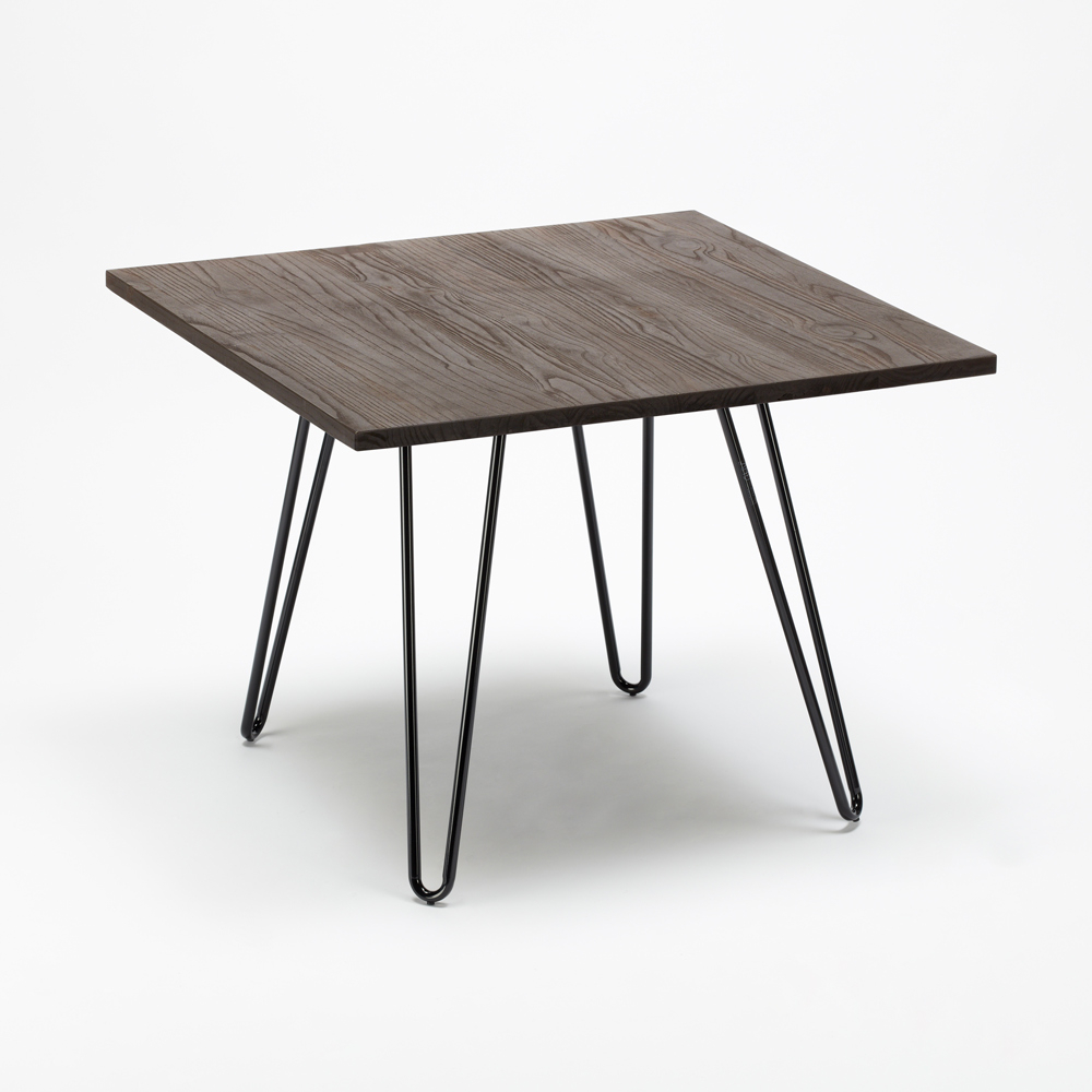 industrial style tables HAMMER wooden table metal legs