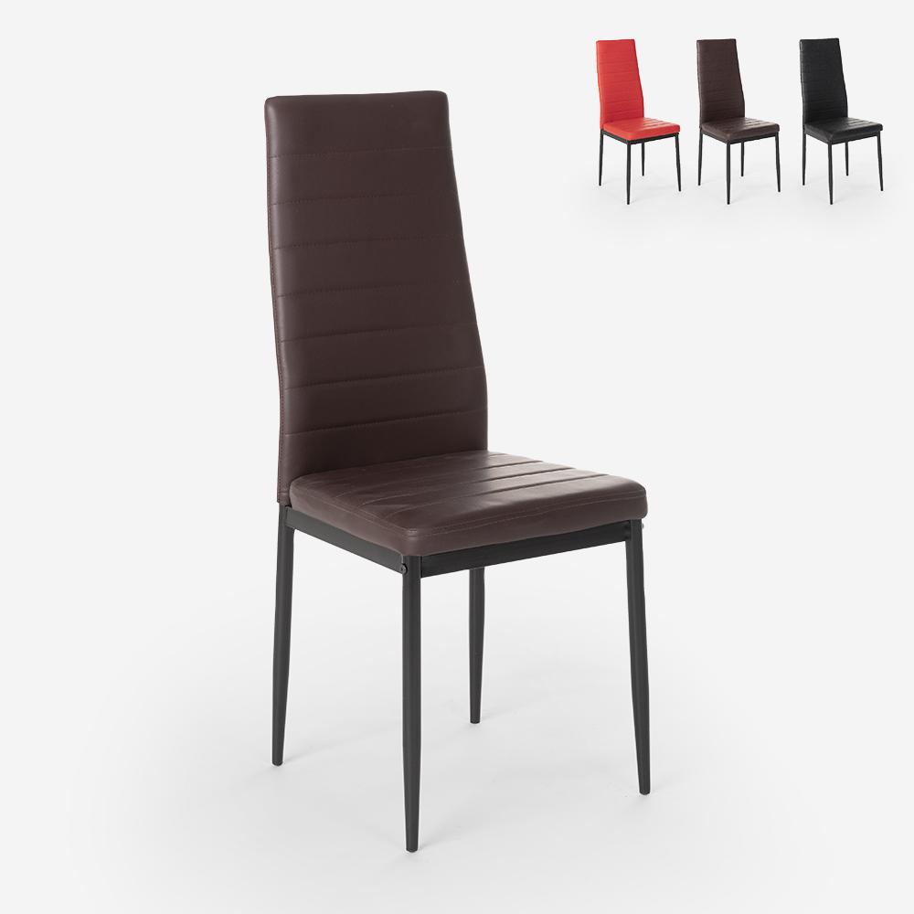 Modern leatherette design upholstered chairs for kitchen dining room restaurant Imperial Dark