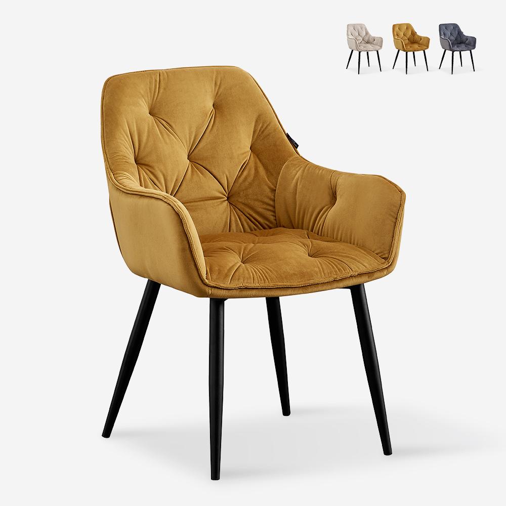 Armchair design upholstered velvet living room lounge Nirvana Chesterfield