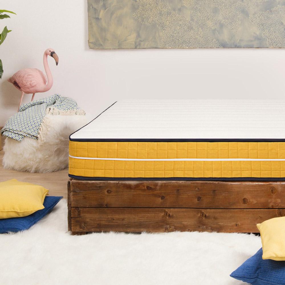 Large square mattress memory foam 7 zones removable cover 25cm 120x190cm Veradea