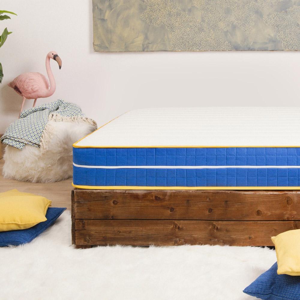 Large square mattress pocket springs memory gel 25 cm 120x190cm Veradea