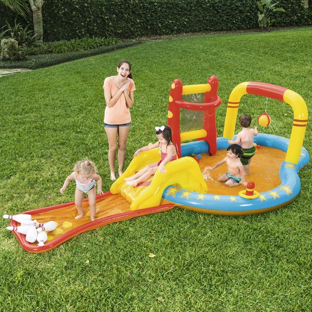 Bestway 53068 inflatable kiddie pool for kids with games - discount