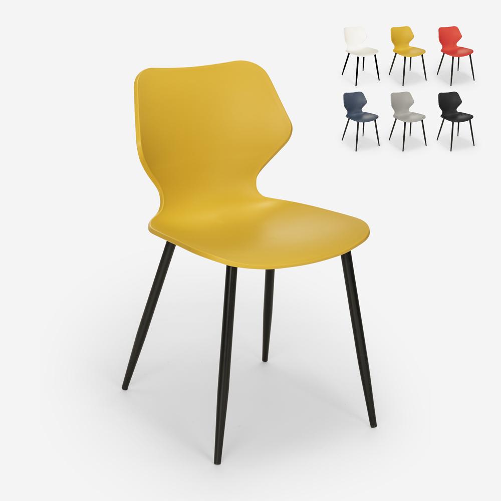 Modern design polypropylene metal dining room restaurant chair Ladysmith