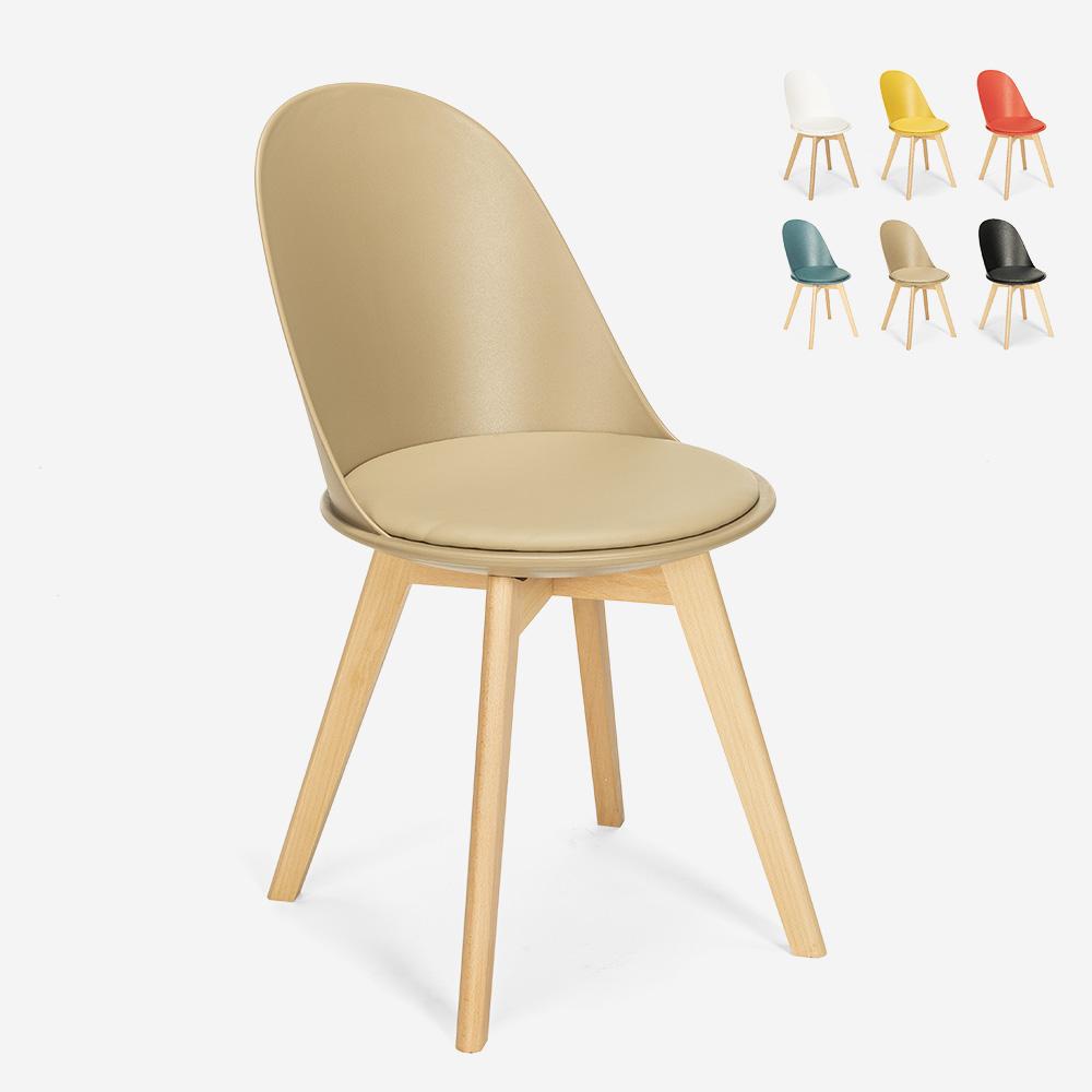 Scandinavian design chair wood cushion kitchen dining room Bib Nordica