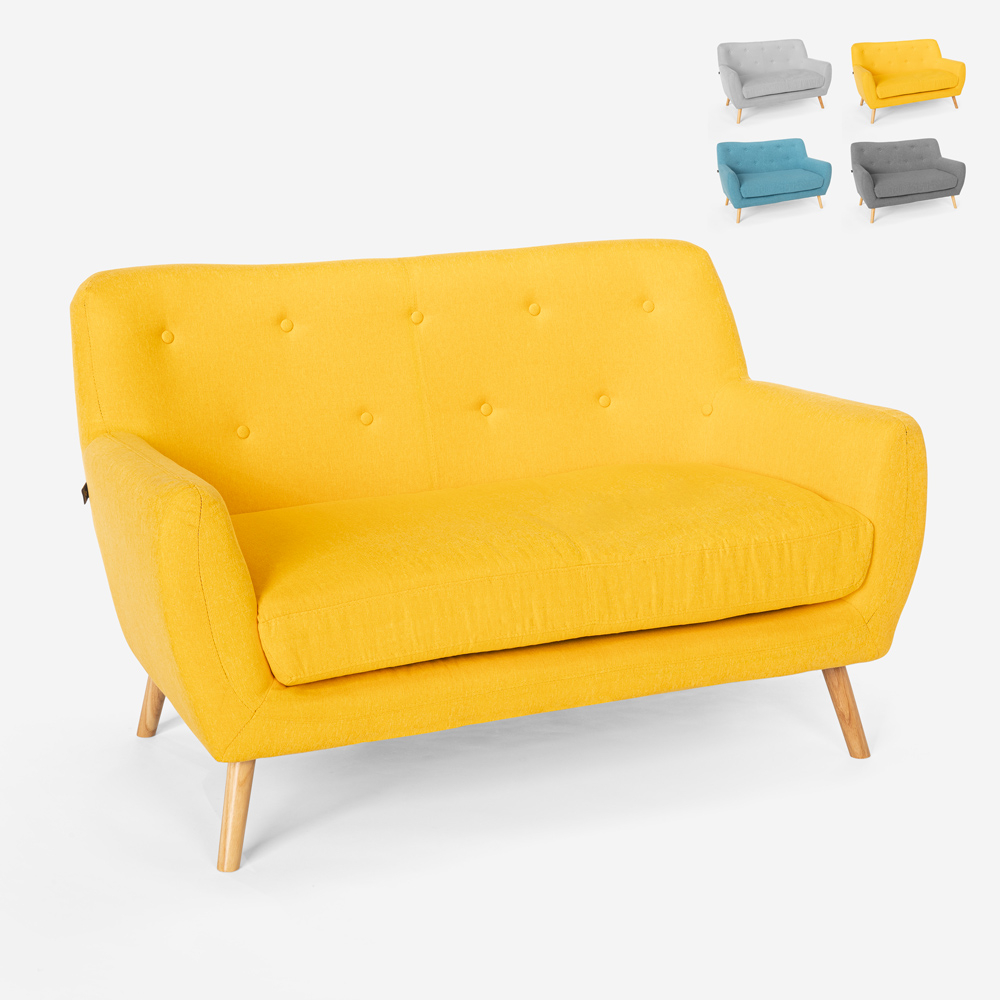 2 seater sofa in modern Scandinavian style fabric Irvine