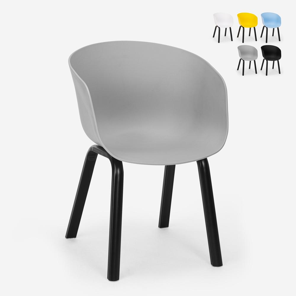 Modern design polypropylene metal chair for kitchen bar restaurant Senavy