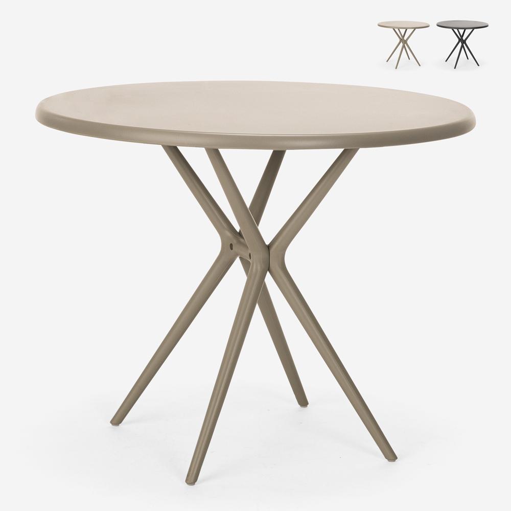 Round polypropylene table 80 cm garden kitchen bar restaurant Gang 80