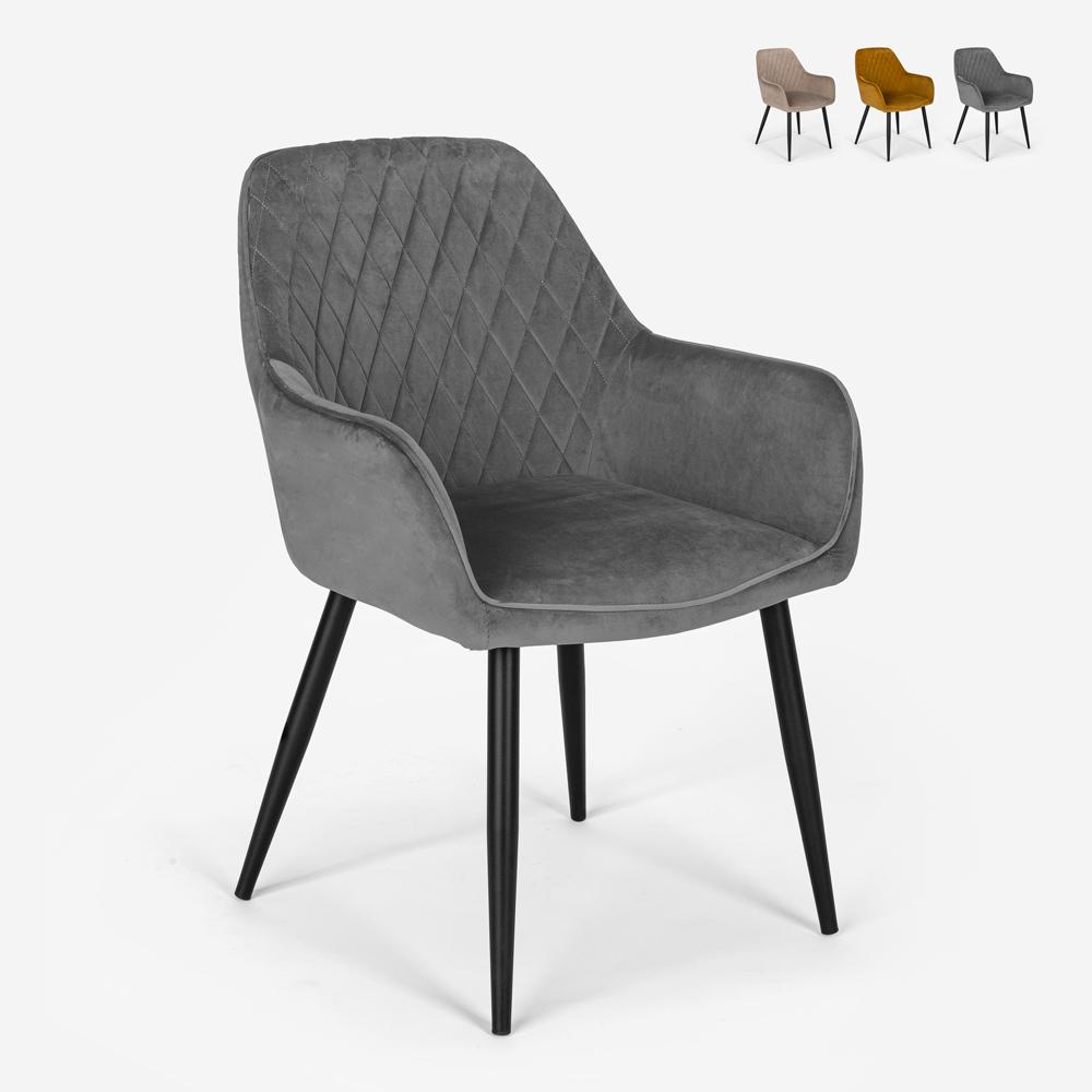 Armchair design velvet upholstered living room lounge Nirvana