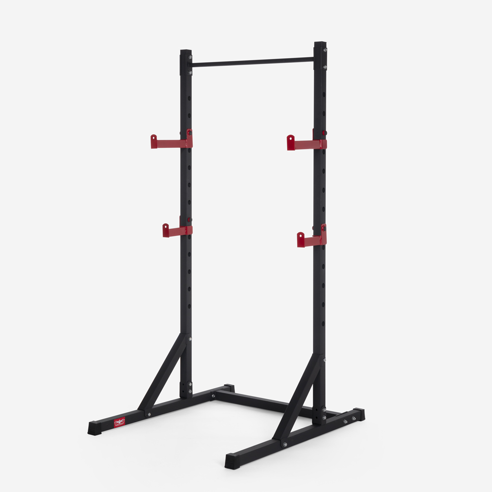 Adjustable barbell squat rack with cross training pull up bar Asahi