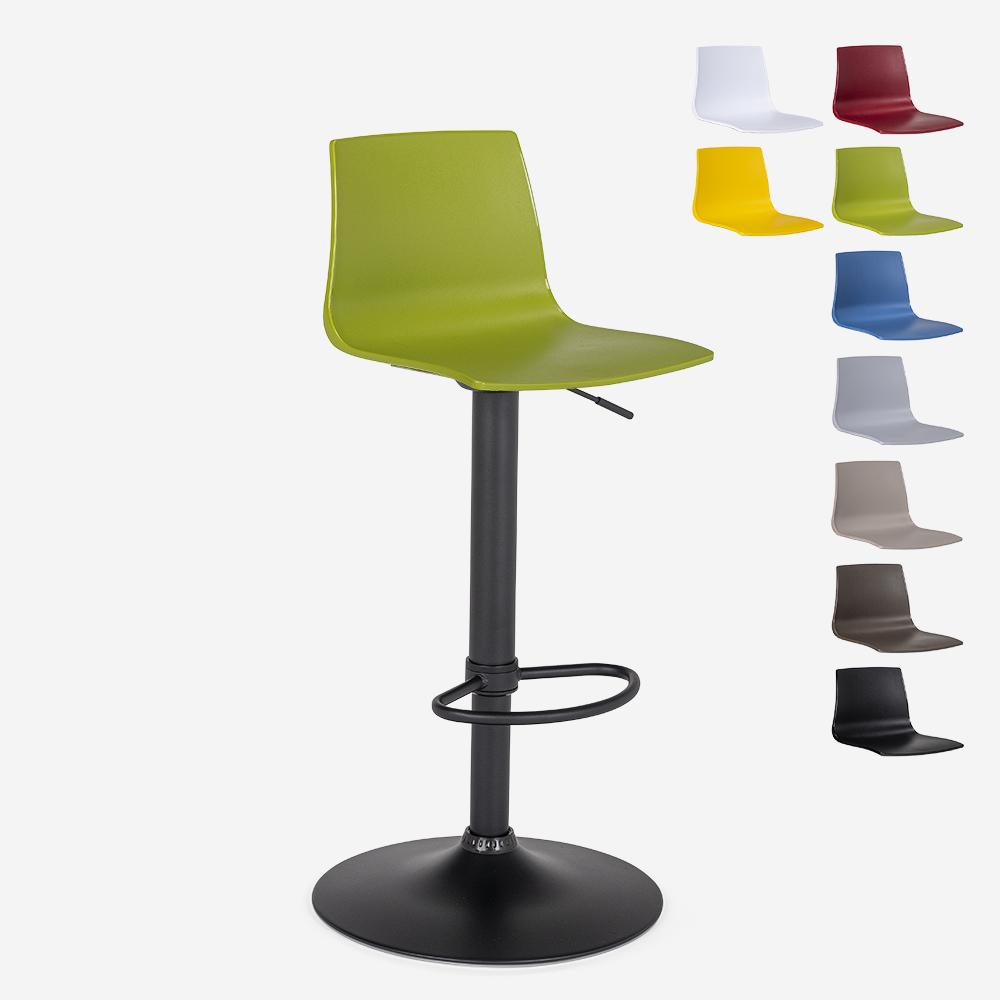 Stool design matt black height adjustable kitchen bar Grand Soleil Imola Matt