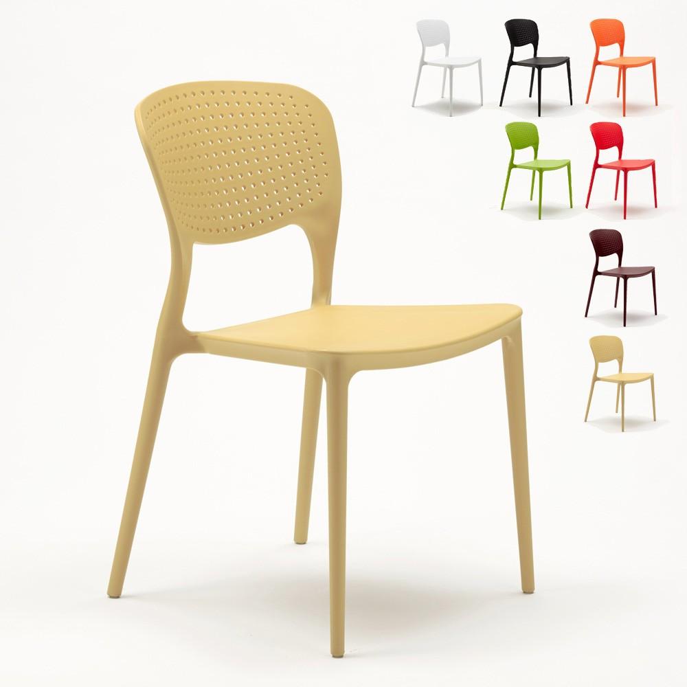 SG689PP - Polypyopylene Stackable Garden Chair for Indoors and Outdoors Garden Giulietta -